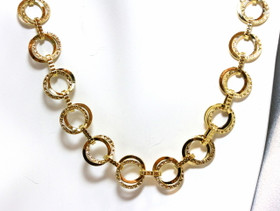 """14K Yellow Gold 18"""" Fancy Link Necklace"""