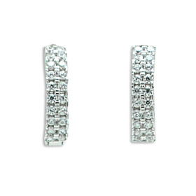 14K White Gold Cubic Zirconia Huggie Earrings 42002962
