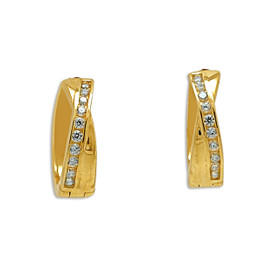 14K Yellow Gold Cubic Zirconia Huggie Earrings 42002967