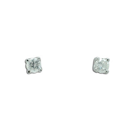 14K White Gold Diamond Stud Push Back Earrings 41002225