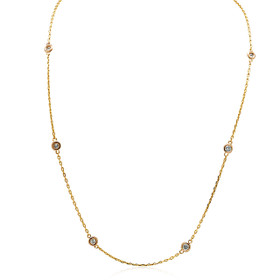 14K Rose Gold Diamonds by the Yard Chain Necklace 31000828