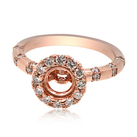 14K Rose Gold Diamond Engagement Ring Setting 11006067