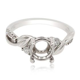 14K White Gold Diamond Engagement Ring Setting 11006063