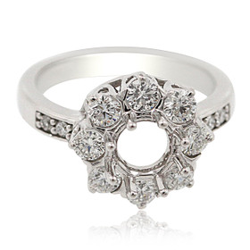 14K White Gold Diamond Engagement Ring Setting 11006062