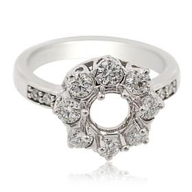 14K White Gold Diamond Engagement Ring Setting 11006062