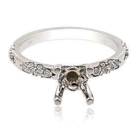 14K White Gold Diamond Engagement Ring Setting 11006065