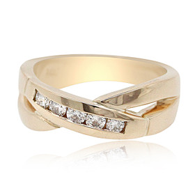 14K Yellow Gold Diamond Band 11006066