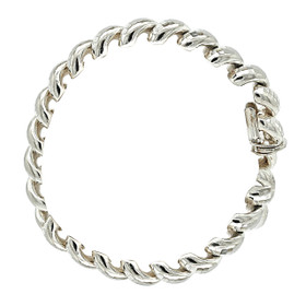Sterling Silver Macaroni Chain Bracelet 82010723