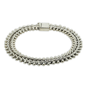 Sterling Silver Fancy V Link Bracelet