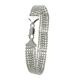 Sterling Silver Five-Strand Bead Bracelet 82010725