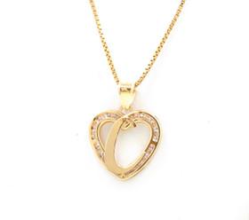 "14K Yellow Gold Cubic Zirconia ""C"" Initial Heart Charm 52001979"