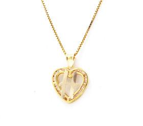 "14K Yellow Gold Cubic Zirconia ""H"" Initial Heart Charm 52001983"