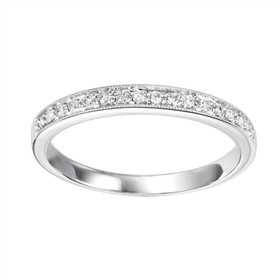 14K White Gold Diamond Stackable Ring FR1085