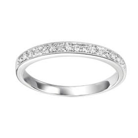 14K White Gold Diamond Stackable Ring FR1085