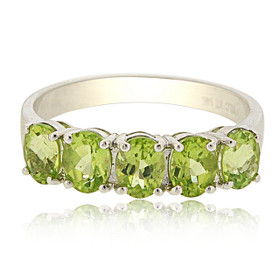 14K White Gold Peridot Ring 12002710
