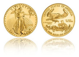 US 1 oz American Eagle Liberty Gold Coin