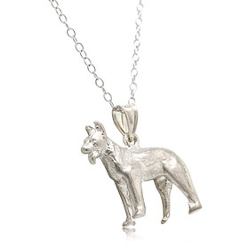 Sterling Silver German Shepherd Charm 85010477