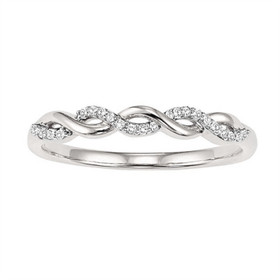 14K White Gold Diamond Stackable Ring FR1457