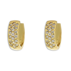 14K Yellow Gold Cubic Zirconia Huggie Earrings 42002992