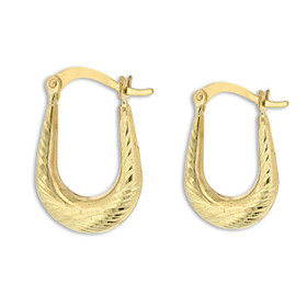 10K Yellow Gold U-Shaped hoop Earrings 49000153