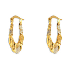 10K Gold Hugs and Kisses Hoop Earrings 49000157
