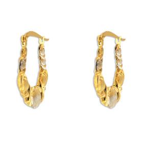 10K Gold Hugs and Kisses Hoop Earrings 49000157