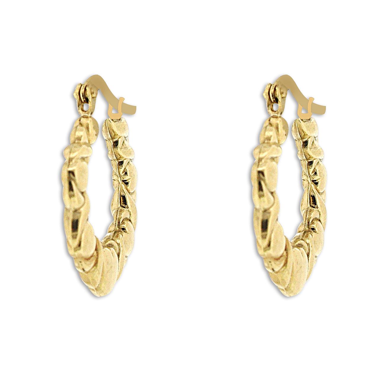 fb0475c860d 14K Yellow Gold Hugs and Kisses Hoop Earrings 49000159