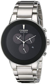 Citizen Eco-Drive Men's AT2240-51E Axiom Silver-Tone Bracelet Watch