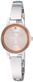 Citizen Women's Quartz Stainless Steel Casual Watch, Color:Silver-Toned (Model: EZ6370-56X)