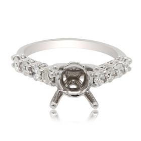 14K White Gold 0.90ct Diamond Engagement Ring Setting 11006079