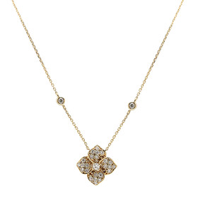 14K Yellow Gold Diamond Flower Necklace 31000889
