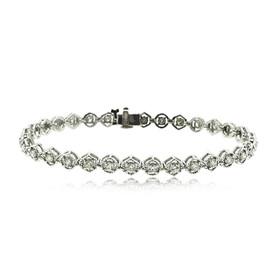 14K White Gold Diamond Bracelet 21000647