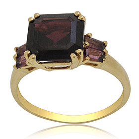 14K Yellow Gold Garnet and Tourmaline Ring 12002728