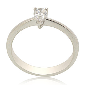 14K White Gold Diamond Solitaire Engagement Ring 11006087