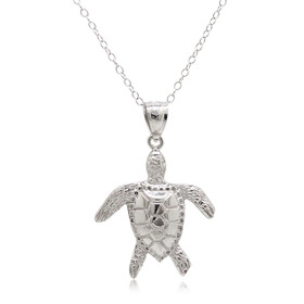 14K White Gold Turtle Charm 50003467