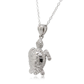 14K White Gold Turtle Charm 50003468