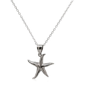 14K White Gold Starfish Charm 50003471