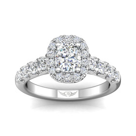 14K White Gold Diamond Engagement Ring 11006122
