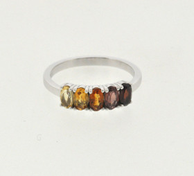 14K White Gold Multi-Color Gemstone Ring 12002770