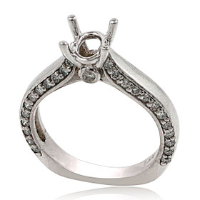 14K White Gold Diamond Engagement Ring Setting 11006119