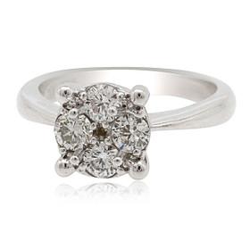 14K White Gold Diamond Engagement Ring Setting 11006109