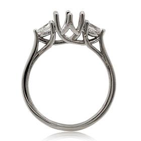 14K White Gold Diamond Engagement Ring Setting 11006112