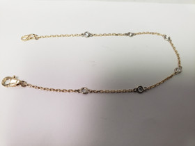 14K Yellow and White Gold Diamond By Yard Bracelet 21000672