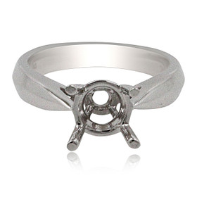 14K White Gold Engagement Ring Setting 10017421