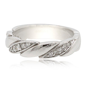 14K White Gold Men's Diamond Band 11006114