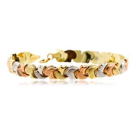 14K Gold Tricolor gold bracelet 20001625