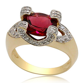 14K Gold Tourmaline Diamond Ring 12002738
