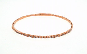 14K Rose Gold Flexible Diamond Bangle 21000679