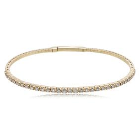 14K Yellow Gold 1.40 Carat Diamond Flexible Bangle 21000680