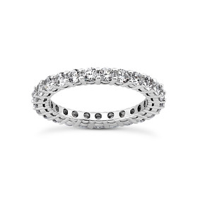 14K White Gold Diamond Eternity Band 11006143-R